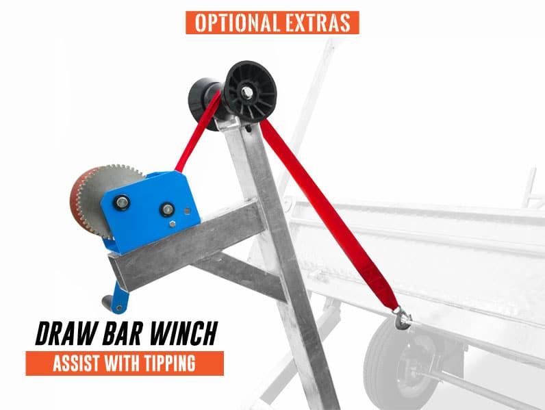 trailer tipping winch