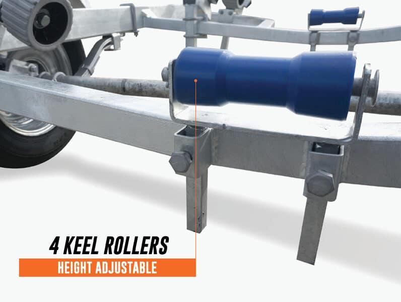 4 keel rollers