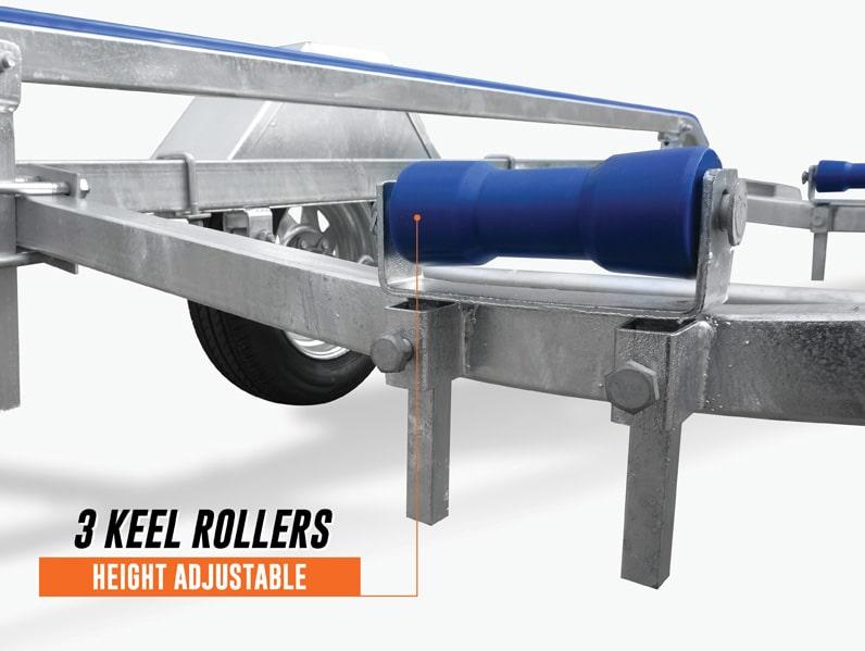 3 keel rollers