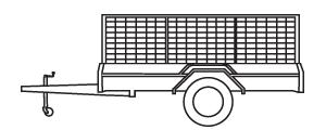 single axle box trailer