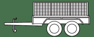 tandem box trailer