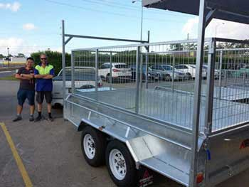 happy tandem trailer customers