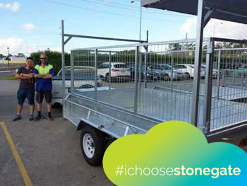 tandem trailers for sale with cage