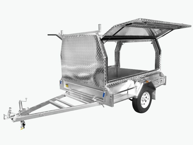 tradies tradesman box trailer